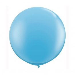 Balon latex jumbo bleu - 80 cm