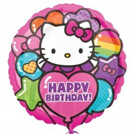 Balon folie 45 cm hello kitty rainbow birthday