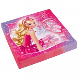 Set 20 servetele de masa barbie pink shoes
