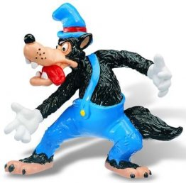 Figurina Disney little pigs big bad wolf