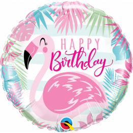 balon-Folie-45-cm-Flamingo-Happy-Birthday