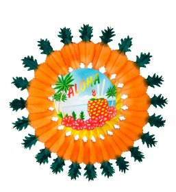 decor-hawaii-aloha-floare-hartie