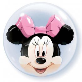 Balon double bubble minnie mouse 61 cm