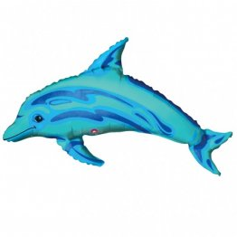 Balon mini figurina delfin bleu