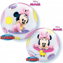 Balon bubble minnie mouse baby 56 cm