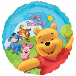 Balon folie 45 cm winnie happy birthday