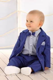 costum-ceremonie-baieti-bebe-elegant-Royal-Blue
