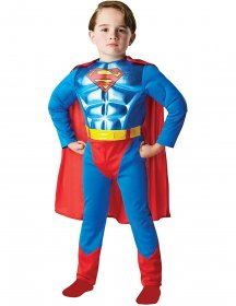 Costum Superman copii metalizat