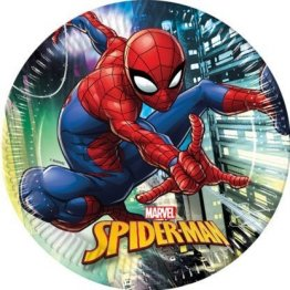 set-8-farfurii-23-cm-spiderman-team-up