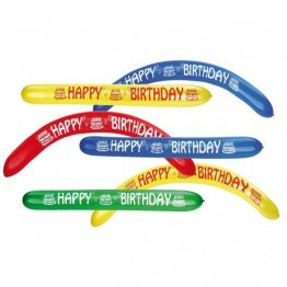 Set 2 baloane colorate latex Happy Birthday 120 cm