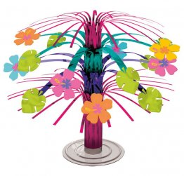 Decor masa ornament cascada flori Hibiscus