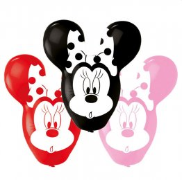 Set 4 baloane jumbo latex in forma de Minnie 55cm