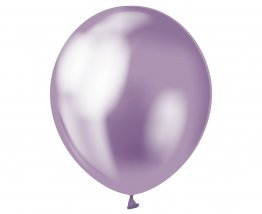 Set 7 baloane latex 30 cm mov violet platinat
