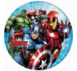 Set 8 farfurii party Mighty Avengers 23 cm