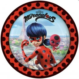 Set 8 farfurii party Miraculous