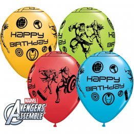 Baloane latex 11''/28cm Avengers - Happy Birthday, 18674, Set 25 buc