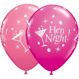 Set 25 baloane latex 28 cm inscriptionate Baby Hen Night (Burlacite)