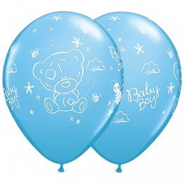 Baloane Latex 28 cm Bleu Me to You Baby Boy, Set 25 buc