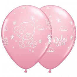 Baloane Latex 28 cm Roz Me to You Baby Girl, Set 25 buc