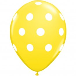 50-baloane-latex-galbene-buline-big-polka-dots