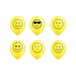 Set 6 baloane latex 26 cm inscriptionate Emoticon
