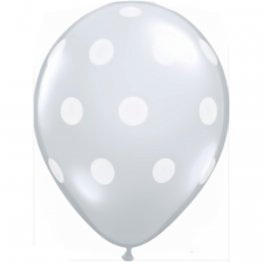 Set 50 baloane latex 13 cm transparente - Big Polka Dots