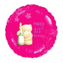 Balon Folie 45 cm 18th Happy Birthday, Amscan 21493