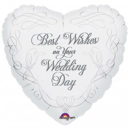 Balon Folie 45 cm Best Wishes on Your Wedding Day