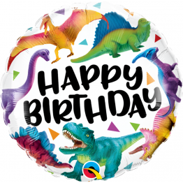 Balon Folie 45 cm Birthday Colorful Dinosaurs