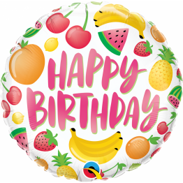 Balon Folie 45 cm Happy Birthday Fruits, 10264