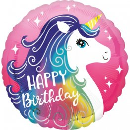 Balon folie 45 cm Happy Birthday Unicorn, Radar 39628