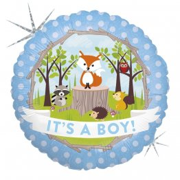 balon-folie-45-cm-it-s-a-boy-animalute-holografic