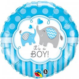 Balon folie 45 cm It's a Boy Elephants