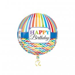 Balon Folie Sfera Orbz Happy Birthday, 38 x 40 cm, 30677