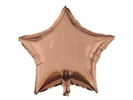 Balon folie uni stea rose-gold 46 cm