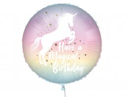 Balon folie Unicorn Magical Birthday 45 cm