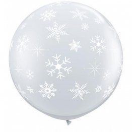 Balon jumbo 91 cm Diamond Clear Fulgi de Nea
