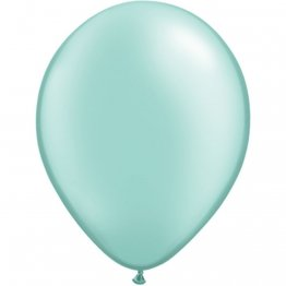 Balon Latex Pearl Mint Green 5 inch (13 cm), Qualatex 43590, set 100 buc