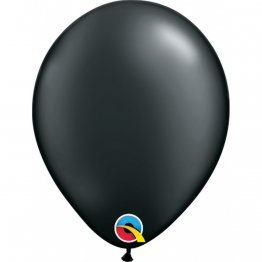 Balon Latex Pearl Onyx Black, 5 inch (13 cm), Qualatex 43579, set 100 buc