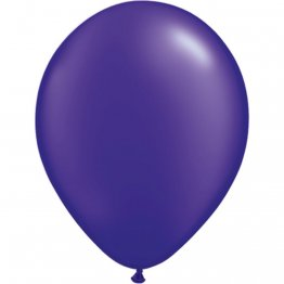 Balon Latex Pearl Quartz Purple 5 inch (13 cm), Qualatex 43593, set 100 buc
