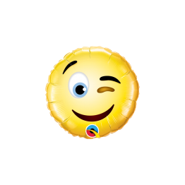 Balon mini folie 23 cm Emoticon Smiley Wink