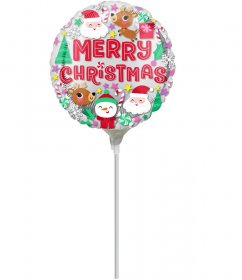 balon-mini-folie-personaje-merry-christmas