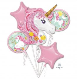 Baloane folie Magical Unicorn buchet