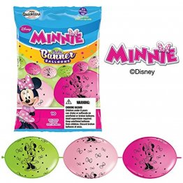 Banner party din baloane cony- Minnie Mouse - 3m, Qualatex 15054