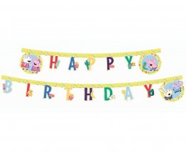 Banner petrecere Happy Birthday Peppa Pig 230 cm