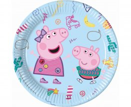 set-8-farfurii-party-23-cm-peppa-pig-fabricademagie