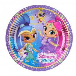 Set 8 farfurii petrecere Shimmer and Shine 18 cm