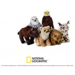 Jucarie din plus National Geographic animal din America de Nord 18 cm