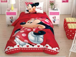 Lenjerie de pat copii Minnie Mouse Colours Fabrica de Magie