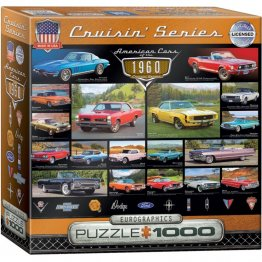Puzzle 1000 piese American Cars of the 1960s